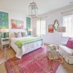 Những căn phòng ngủ trang trí bằng giấy dán tường