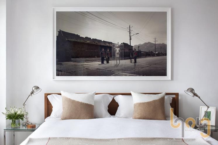 Không gian phòng ngủ từ giấy dán tường