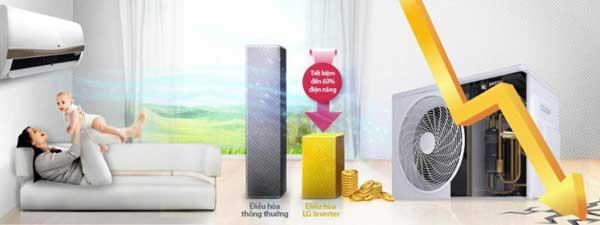 máy lạnh inverter giá rẻ tiết kiêm điện năng
