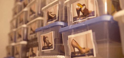 Bảo quản giày dép trong các hộp nhựa