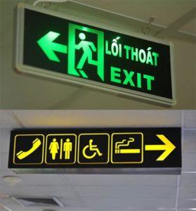 Bảng đèn led thoát hiểm dưới đường hầm