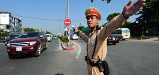 Đèn led hỗ trợ công an giao thông khi tác nghiệp