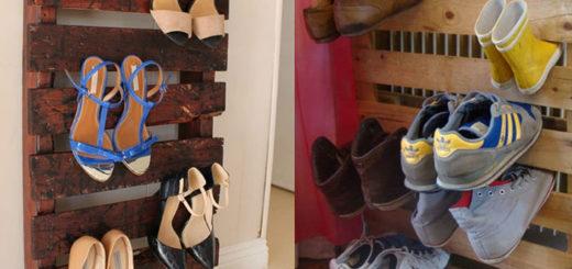 Kệ pallet để giày dép độc đáo