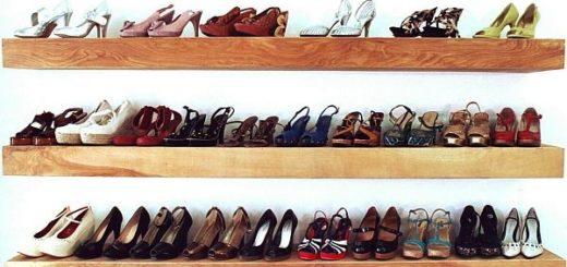 Lưu trữ giày dép trên các thanh kệ