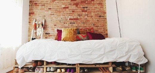 Kết hợp giường ngủ với tủ để giày dép
