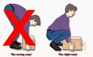 Đặt vật nặng giữa 2 chân