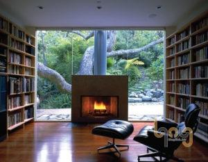 Phòng đọc sách với không gian thoáng