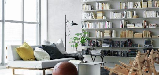 Phòng đọc sách đầy đủ ánh sáng