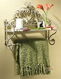 Giá kệ sắt treo tường trong phòng tắm
