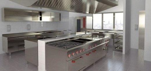 Nhà bếp sạch sẽ có lắp hệ thống quạt hút mùi