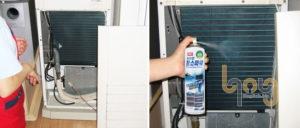 Vệ sinh máy lạnh tủ đứng khi bị chảy nước dàn lạnh