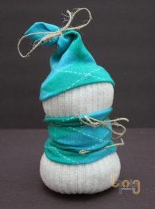 Trang trí phần nón và áo cho người tuyết