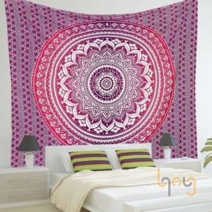 Treo thảm mang họa tiết Bohemian thay cho tranh