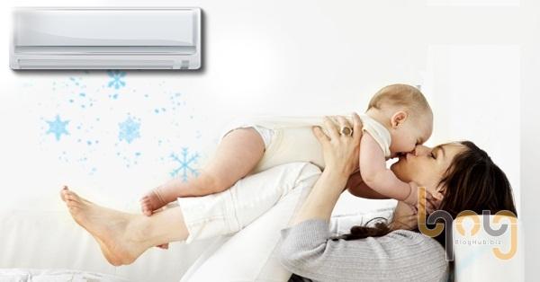 Cho trẻ em ngủ máy lạnh tạo cảm giác dễ chịu cho trẻ