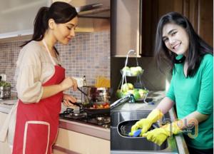 Vệ sinh nhà bếp thường xuyên để khử mùi hôi