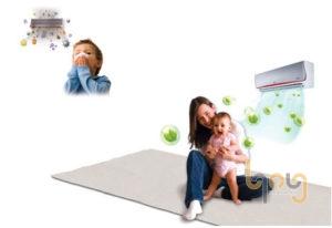 Trẻ em sử dụng máy lạnh nên vệ sinh phòng thường xuyên
