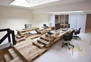 Bàn làm việc văn phòng bằng pallet gỗ
