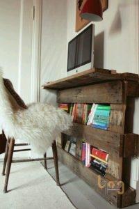 Giá kệ sách bằng pallet gỗ