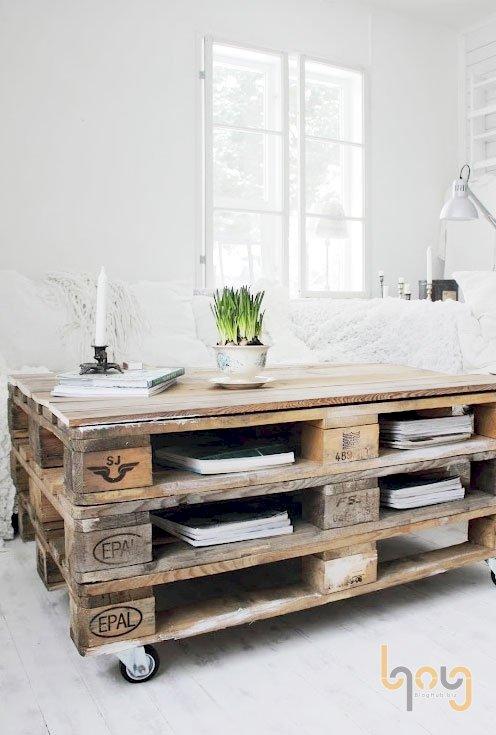 Pallet gỗ làm đồ nội thất sang chảnh cho gia đình