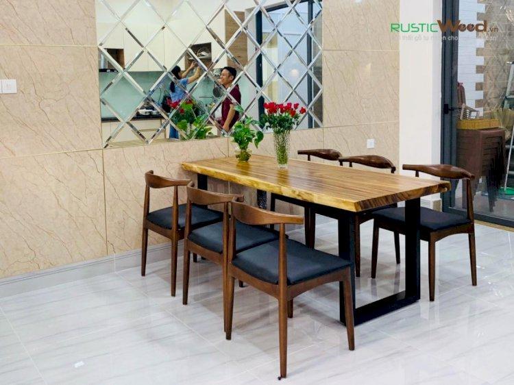 Bí mật đằng sau những mẫu bàn ăn gỗ tự nhiên nguyên tấm